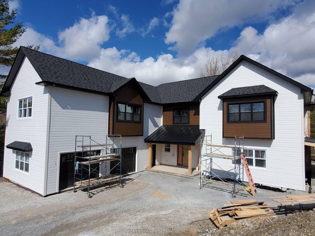 Maibec can-exel siding on a custom house Ontario