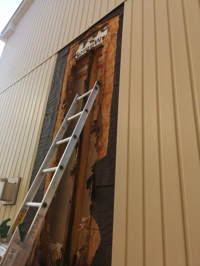 improper siding install water damage